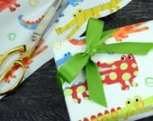 SALE - Crocodile Alligator Children's Wrapping Paper, 2 Feet x 10 Feet