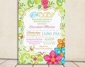 Oh Baby Luau Baby Shower Invitation Tropical Hawaiian Hula Party - Brunch Invite Gender Neutral