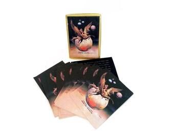 Vintage Boris Vallejo Book Plates Golden Wings Antioch bookplates this book belongs to labels reading fantasy pegasus 80s