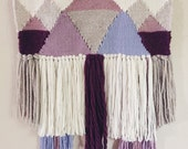 Woven Tapestry / Purple Mountains / Woven Wall Hanging