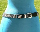 steam punk tube metal belt size med