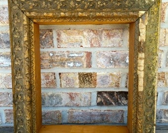 Antique wood gold frame very ornate for mirror or picture shadow box