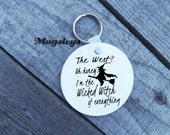 Wicked Witch of the West Keychain, Funny Keychains, Halloween party gifts, Round Key Chain,
