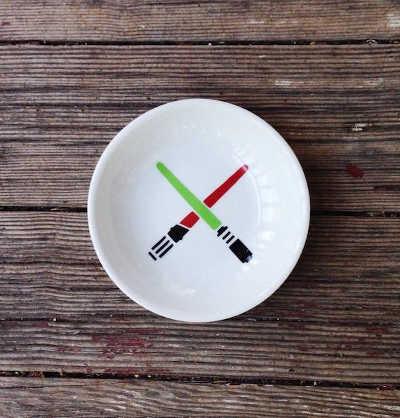 Star Wars   Wedding   Ring Dish   Lightsaber   Trinket Holder   Engagement Gift