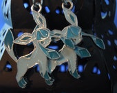 Glaceon, Pokemon. Glaceon Earrings, Anime Jewelry