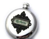 Slytherin Flask Harry Potter Inspired Hogwarts House Flask Fan Gift Gryffindor Ravenclaw Hufflepuff Round 5 oz