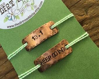 Shoe Tags, 13.1 Keep Going, Customized shoelace tags, half marathon jewelry, 13.1 charm, motivational jewelry,