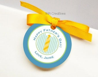 Personalized Happy Father's Day Tag - DIY Printable Digital File