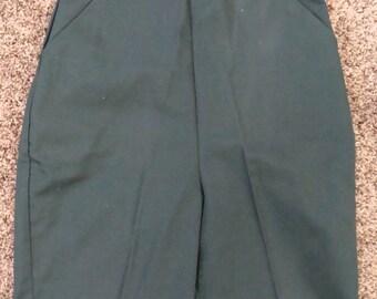 VINTAGE GIRL SCOUTS green high waisted shorts bermudas walking 23 waist