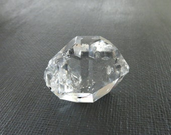 Herkimer Diamond Genuine from NY 1 Raw Crystal 26mm x 21mm / 45 Carats Natural Rough Stone from Upstate New York for Jewelry (Lot 8394)