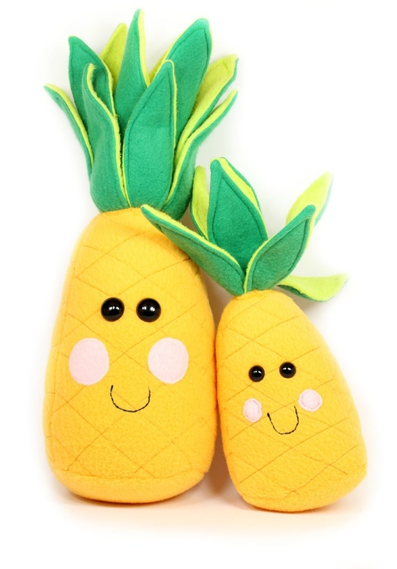 Plush Food Toys : Pineapple plush toy life size stuffed by