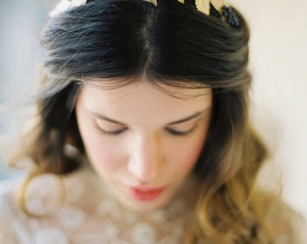 Elderberry and Golden Leaf Bridal Crown -Style 5415 'Agatha' MADE TO ORDER