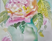 Rosematters II Watercolor on Arches Paper 10 inches X 14 inches by Karen Pratt