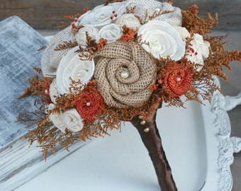 Autumn Bridal Bouquet, Autumn Orange, Autumn Wedding Bouquet, Fall Bridal Bouquet, Small Brides Bouquet, Autumn Flower Bouquet, Fall Bouquet