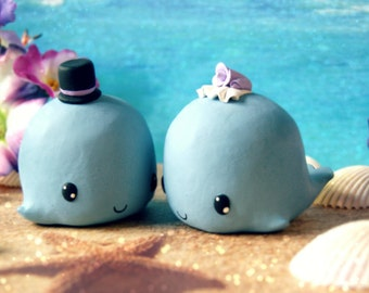 Whale Wedding Cake Toppers