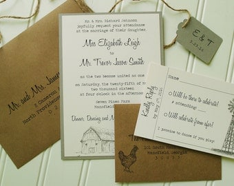 barn wedding invite  etsy, Wedding invitations
