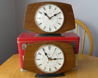 Metamec Clock Recycled Vintage Mantel Shelf Battery Clock