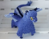 Blue dragon needle felted dragon toy fantasy dragon figurine
