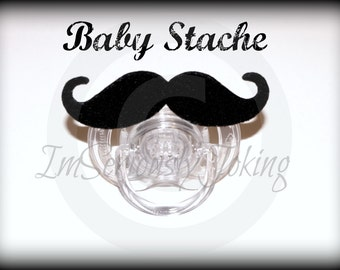 Mustache Pacifier-Baby Mustache-Baby Boy Pacifier-Little Man Party-The Handlebar-Baby Shower Gift- Baby Boy Gift- Little Man