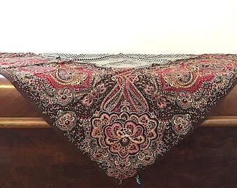 Vintage Ralph Lauren Silk Scarf, Designer Silk Scarf, Ladies Fashion Accessories, Summer Scarf Shawl, Vintage Ralph Lauren, Made In JAPAN