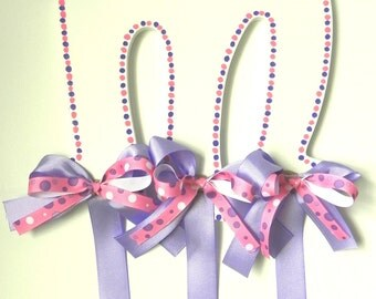 Hand Painted letters - Princess Hair Bow Holders