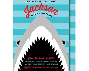 Shark Birthday Invitations Gangcraft Net
