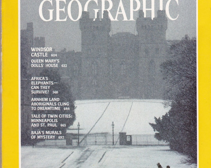 Vintage National Geographic Magazine, Vol 158, No 5, June 1980, Windsor Castle, Queen Mary, Doll House, Africa, Elephants, Aboriginals