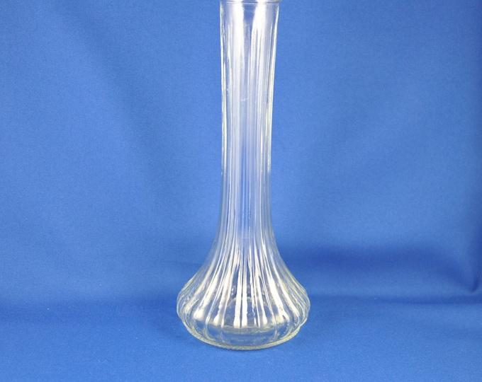 Vintage Glass Bud Vase, Hoosier Glass 4096, 9 Inch, Flower Vase, Clear Glass, Indiana Glass, Glass Bud Vase, Flowers,