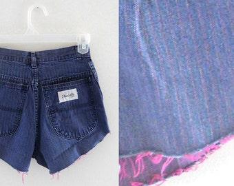 Pink Shorts Sz 24 High Waste Shorts High Waist Shorts Highwaisted Shorts High Waisted Cutoffs High Wasted Shorts Frayed Cut Off Jean Shorts