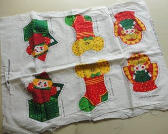 christmas ornaments print cotton fabric craft panel