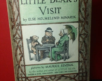 Little Bear's Visit by Else Holmelund Minarik and illustrated by Maurice Sendak vintage 1961 hardcover I Can Read Children's Book