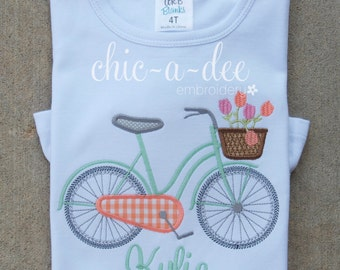 Personalized Bicycle Applique