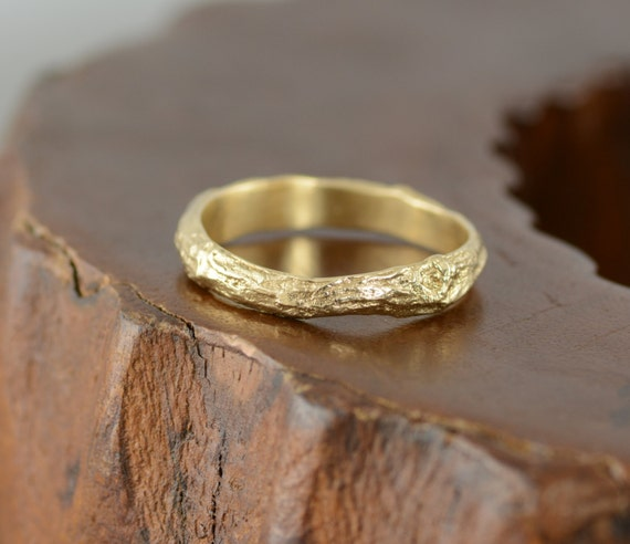 branch wedding ring mens wedding band tree branch 14k gold 2055
