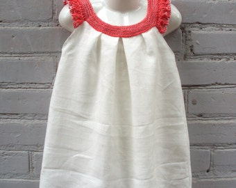 white crochet baby dress exclusive design Thebabemuse hand-colored photo shoot flowergirl dress toddler baby size