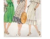 Vogue 7080 Sewing Pattern Retro 80s Style Dress Large Shawl Collar Loose Fit Ruffle Hem A-line Tent Dress Uncut FF Bust 34