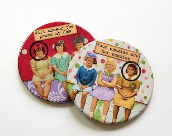 Funny Coasters, Wine Coasters, Coasters, Drink Coasters, Girlfriends, Gift for Girlfriend, Gift for best friend, Barware, humor (5034c)