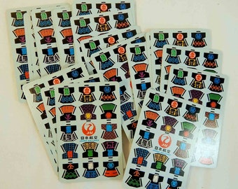 Vintage Kimono Playing Cards Japan Air Lines JAL, Japan Airlines Retro, Paper Craft Supply, Scrapbooking, Japanese