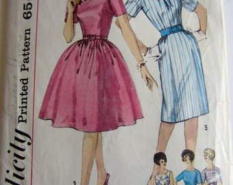 Vintage 1960's Simplicity dress pattern 4257, size 14