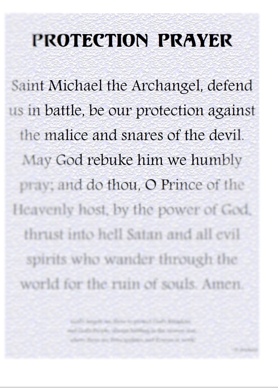 Protection Prayer Archangel Michael INSTANT DOWNLOAD Office