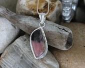 Reiki Attuned Rhodonite Silver Pendant Necklace