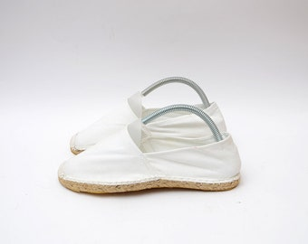 Vintage white cotton women espadrilles