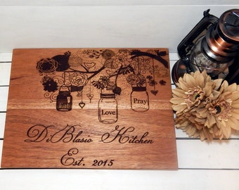 Cutting Board, Large Personalized Cutting Board, Personalized Gift, Christmas Gift, Wedding Gift, House Warming Gift, Custom Cutting Board