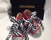 Swarovski Crystal Converse Hi-Top Shoes