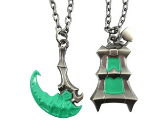 Thresh lantern and scythe couples, keychain or necklace League of legends