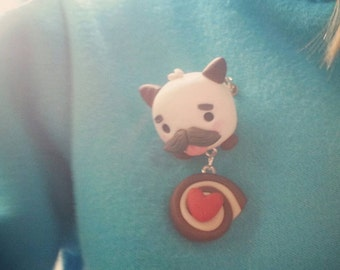 Poro pin broach polymer clay hand sculpted