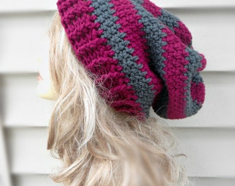 Slouchy Womens Hat Winter Hats Womens Accessories Crochet Multi Color Hat
