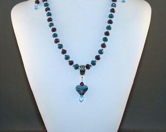 SALE! Blue & Purple Heart Set