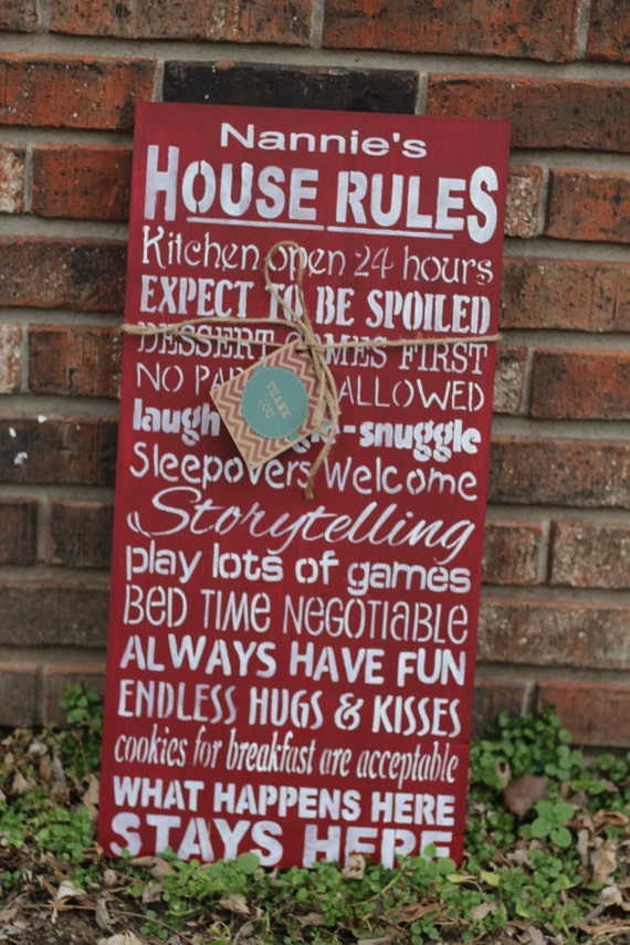 Grandparents house rules sign-custom Grandparents sign  Sale for the month of April  15% off your order. coupon code apr15