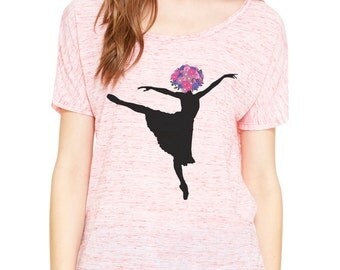 Womens T-shirt | ballet shirt | Dance Shirt | dancer tshirt | yoga clothes | loose fitting | yoga shirts | workout shirt | slouchy top |