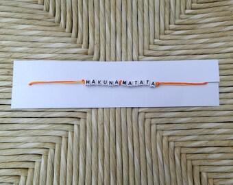 Hakuna Matata Friendship Bracelets with Duo-colour Chord